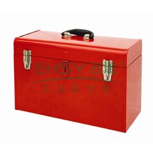 便携式钢制工具箱,红色,带黑色分隔