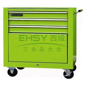 经济型组合工具车,4抽屉,绿色