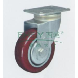 申牌 3寸聚氨酯中型脚轮,丝杆刹车M12 载重(kg):105 轮宽(mm):30 全高(mm):111,20A05-1014