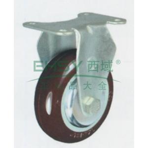 5寸尼龙中型脚轮,平底固定,载重(kg):145,轮宽(mm):32,全高(mm):160