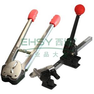 西域推荐 经济型PP手动拉紧器+咬扣器,适用材质PP,适用打包带宽度:12mm-16mm