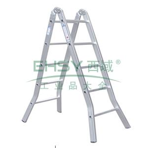 铝合金二关节折梯,伸长:3.8m,折长:1.9m,自重:8.9kg