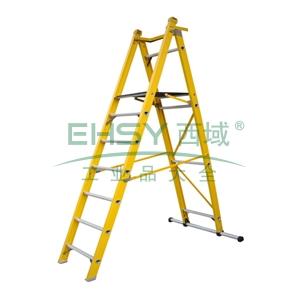 玻璃钢可折叠平台A型梯,平台高度:3m