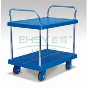 全静音双层双扶手车板式手推车,轮子类型:静音轮,承重(kg):150KG