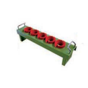 刀具座配合圆形套,含刀具套 含挂片 适用刀具型号HSK63 可存支数5支