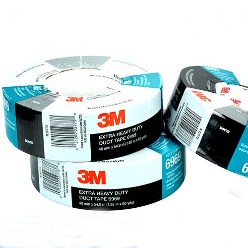 3M单面聚乙烯涂覆布布基胶带, 黑色