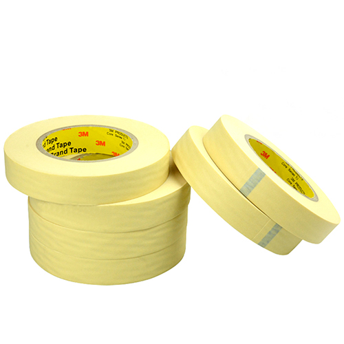 3M单面平滑美纹纸高温遮蔽胶带, 米黄色 宽度13mm 长度55m