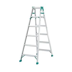 两用梯,(人字梯兼用直梯)(双侧宽幅踏步60mm)梯全长:4.18m 缩长:1.98m 重量:9.8kg