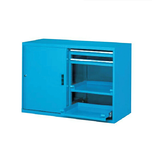 移门工具柜, 1130W*600D*1000H 4层层板4个抽屉