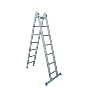 金锚 铝合金可折叠两用梯,踏板数:7,额定载荷(KG):150,人字高度(米):2.0,AO54-207