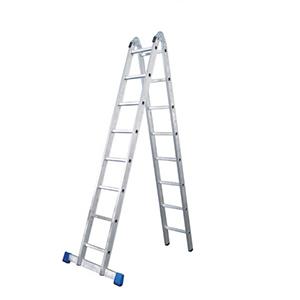 金錨 鋁合金可折疊兩用梯,踏板數:9 額定載荷(KG):150 人字高度(米):2.55,AC51-209