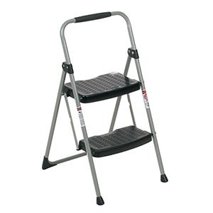 稳耐 铁质宽踏板家用梯,踏步数:2,额定载荷(KG):102,工作高度(米):0.52,222-6CN