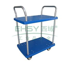 微静音双层双扶手车板式手推车,轮子类型:铁支架轮,承重(kg):300KG