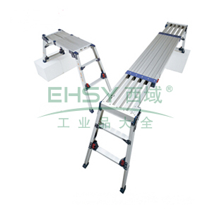 带把手天板滑动型 宽敞使用,收纳紧凑 四脚调节式作业台 (可折叠,可伸缩,长跨度)(用于装修、施工)DWV MAX 120kg 作业台高度:0.789-1.201m 长度:1080-1800mm 宽度:280-270mm 重量:13.0kg
