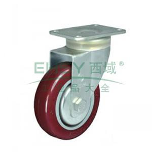 4寸聚氨酯中型脚轮,平底万向,载重(kg):135,轮宽(mm):32,全高(mm):135