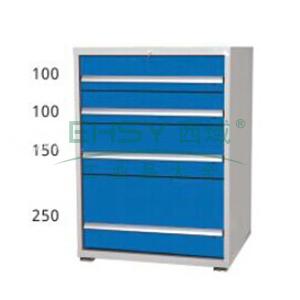 工具柜,5抽,单抽承载80kg,566*600*700mm,面板蓝色,框架灰白
