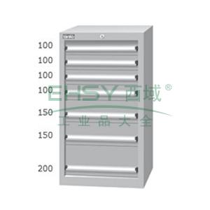 标准型工具柜,高H*宽W*深D:1025*566*607,抽屉荷重(kg):50,EHA-10071