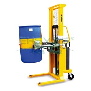 油桶堆高车,液压起升手摇翻转堆高称重车,含Φ150 PU轮 400kg