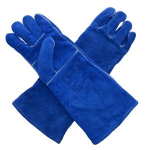 威特仕 10-2054L焊烧手套,彩蓝色长袖筒款