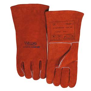 威特仕 10-2101XL焊烧手套,锈橙色斜拇指款