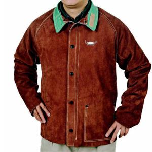 威特仕 44-7300XXL焊接防護服,上身焊服,咖啡色