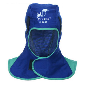 威特仕 23-6680 蓝色全护式防火阻燃焊帽