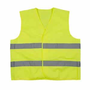 代尔塔 404401 梭织荧光马甲 黄色,均码