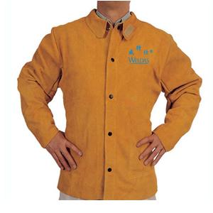 威特仕 焊接防護服,44-2130-XXXL,金黃色皮上身焊服