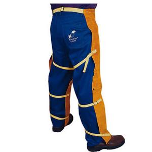 威特仕 焊接工作褲,44-2438,金黃色皮單前幅工作褲 97cm長