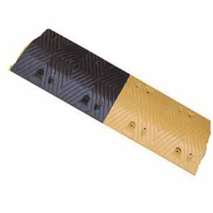 重载橡胶减速带(10吨)-优质原生橡胶,含安装配件,黄黑条纹,1000×350×50mm,14460