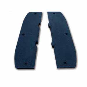 安赛瑞 重载反光减速板端头,优质原生橡胶,黑色,含安装配件,900×250×50mm,11119