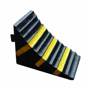 安賽瑞 輕型車輪止退器,優質原生橡膠,黃黑條紋,重3kg,260×160×190mm,11030,2個/對