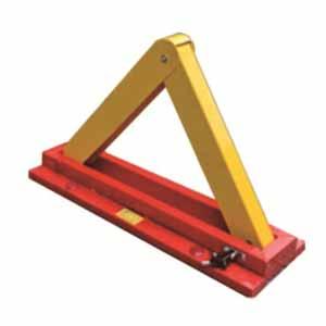 安赛瑞 三角型手动车位锁,钢制,600×200×60mm,11050