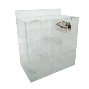 安全眼镜分配器-进口透明亚克力材质,410×360×200mm
