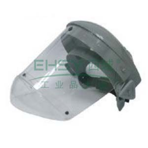 JSP 02-3250 帕洛玛全面防护面罩含头戴式支架(灰),带下颚护盔