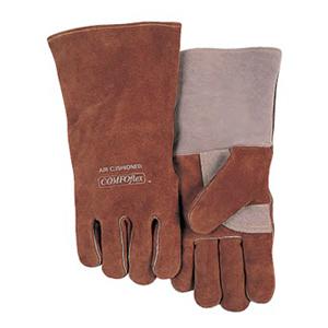 威特仕 焊接手套,10-2600-XL,咖啡色特舒柔电焊手套