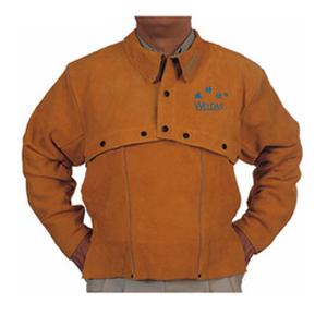 威特仕 焊接防護服,44-2028-XL,金黃色開背式焊接服