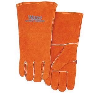 威特仕 焊接手套,10-0100-L,常规烧焊手套 锈橙色斜拇指款