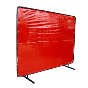 威特仕 焊接防护屏,55-6468,橙红色高透视防护屏 1.74*2.34m