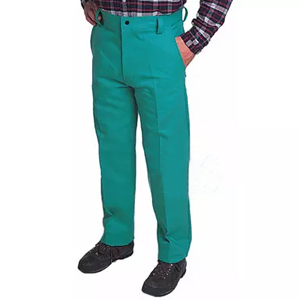 威特仕 焊接工作褲,33-9600-L,火狐貍阻燃綠色時款工作褲