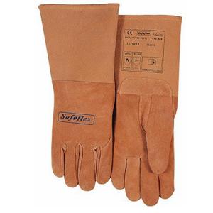 威特仕 焊接手套,10-1003XL,絨面豬青皮長袖筒款