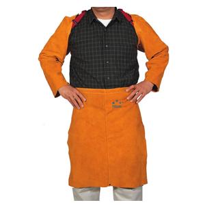 威特仕 焊接围裙,44-2124,金黄色皮无护胸围裙 61cm长