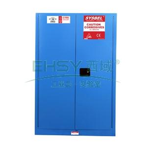 安全柜,SYSBEL 弱腐蚀性液体防火安全柜,蓝色,90加仑,不含接地线WA810860B
