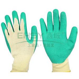 霍尼韦尔 2094138CN-7 WORKEASY经济款乳胶涂层手套,黄绿色,10副/包