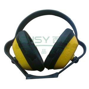 以勒 折叠/头戴式耳罩,黄色