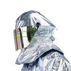 雷克兰  PBI/KEVLAR镀铝隔热帘消防头盔,NFPA认证;镀铝工艺配件和镀金面屏;额外镀铝防火帘设计,并可配合空气呼吸器使用