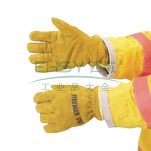 雷克兰 皮质手套, NFPA认证;NFPA认证;带编织腕套及防水里层