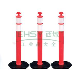 可移动式警示隔离柱-高性能PE材质,原生橡胶底座,覆工程级反光膜,420×420×1100mm,11205