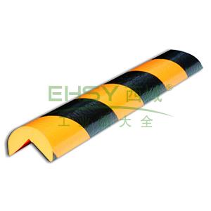 警示防撞条(A款)-耐寒PU材质,黄黑橘皮纹表面,直角型,长1000mm,11410