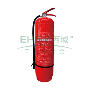 手提式ABC干粉灭火器(3kg)-ABC干粉灭火剂,灭火剂重3kg,灭火级别2A34B,15541